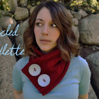 Upcycled Scarflette Tutorial