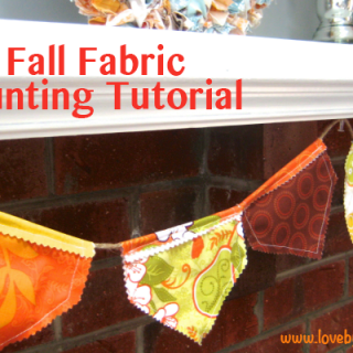 Fall Bunting Tutorial