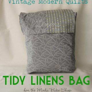 Tidy Linens Bag Tutorial