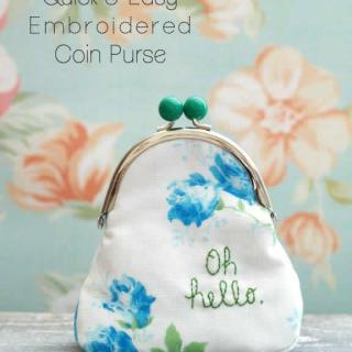Quick Easy Embroidered Coin Purse