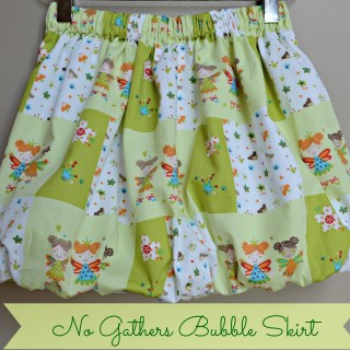 No Gather Bubble Skirt Tutorial