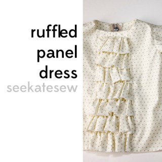 Ruffled Panel Baby Dress Tutorial