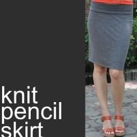 Knit Pencil Skirt Tutorial