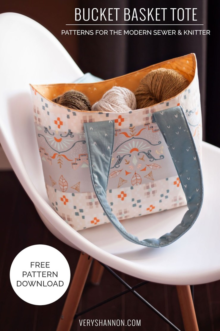 Bucket Basket Tote Free Pattern and Tutorial by Very Shannon - Sewtorial
