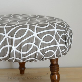 Whether you're updating an old worn out ottoman cover or changing it up to match your decor, here's an easy DIY Ottoman Cover tutorial by the Seasoned Homemaker to get you started. -