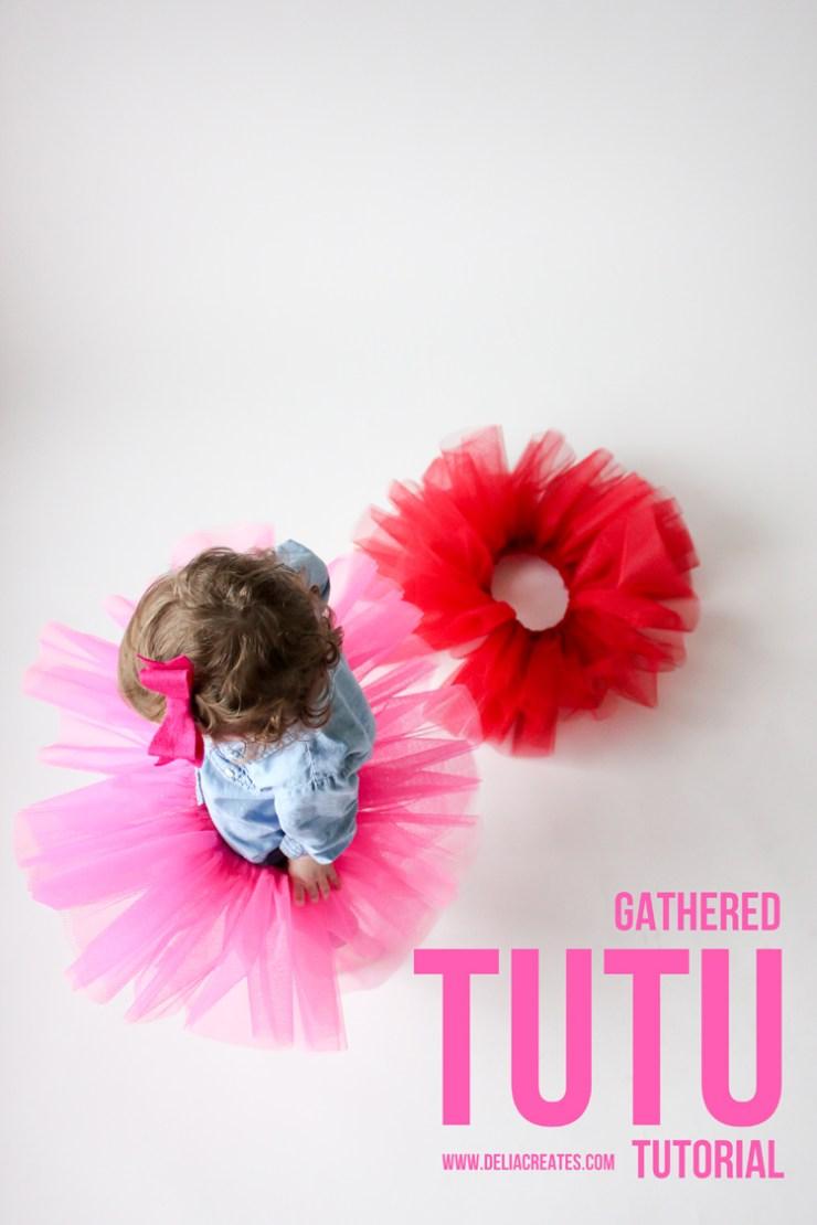 DIY Gathered Tutu by Delia Creates - Sewtorial