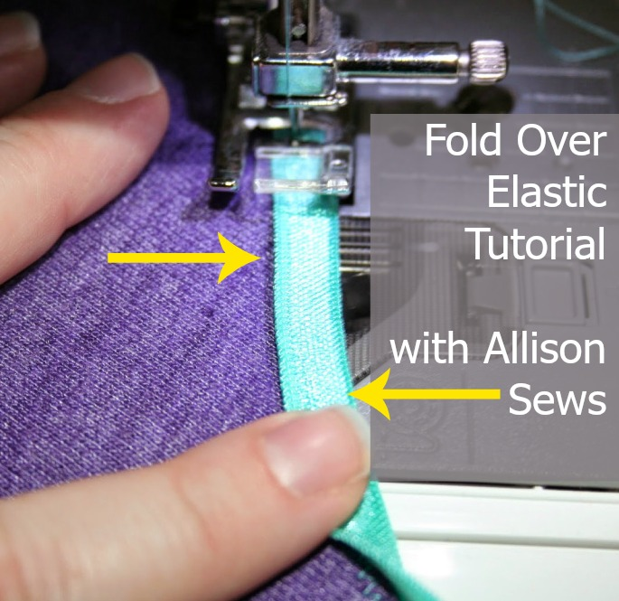 Using fold over elastic can be tricky. The Crafty Planner with Allison Sews shares a great tutorial on how to use fold over elastic. -Sewtorial