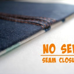 The Sewing Loft shares a great no sew seam closure tip that works great for small openings. - Sewtorial