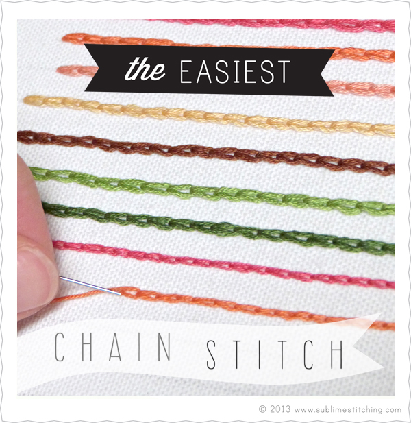 "Learn the ""easy way"" to create a chain stitch with this tutorial by Sublime Stitching. - Sewtorial"