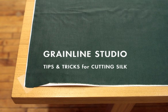In this video and tutorial, Grainline Studio shares tips on how to cut silk and other hints. - Sewtorial
