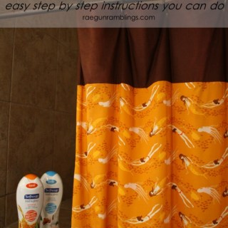 30 Minute Shower Curtain Tutorial