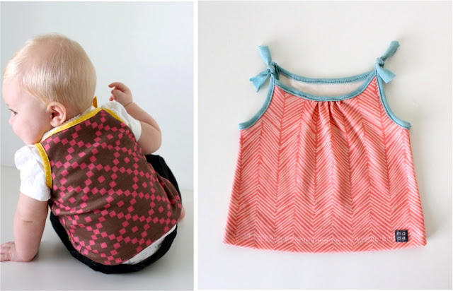 These adorable baby tanks by Dana from Made are great for warm weather or for layering. This easy project is beginner friendly.-Sewtorial