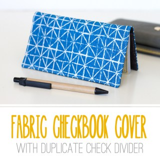 Carry those checks around in style with this checkbook cover tutorial by Make It Love It. This is a quick sew and beginner friendly project. -Sewtorial