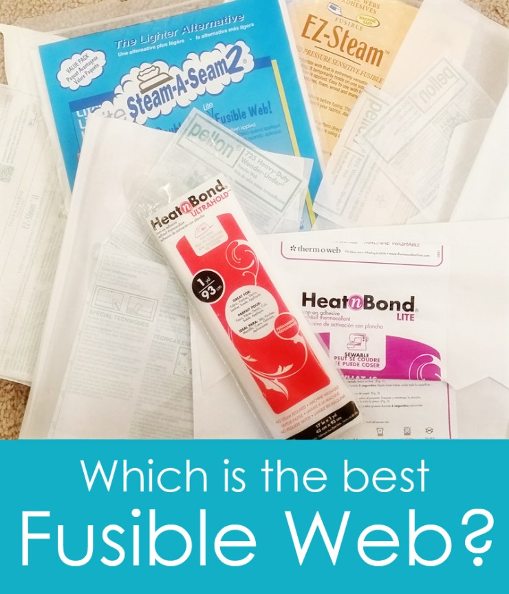In this article, Sweetbriar Sisters helps  take the guess work out of selecting the best fusible web for your sewing projects. -Sewtorial