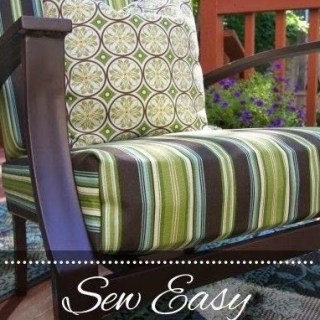 Outdoor Cushion Covers Tutorial