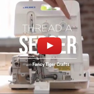 "With the video tutorial below by Creative Bug, you'll learn the ""mechanics"" of how to thread a serger with confidence. -Sewtorial"