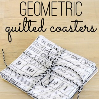 In this tutorial, The Seasoned Homemaker shows how to make a modern quilted coaster out of your favorite fabric. -Sewtorial