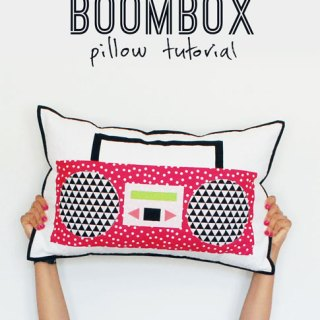 10 points for creativitity! This Boombox Pillow tutorial by Ann Kelle is a fun way to add whimsy and character to your favorite space. - Sewtorial