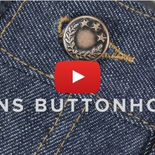 Use this video tutorial by Angela Kane to learn how to sew jeans buttonholes for a professional and flattering finish. -Sewtorial