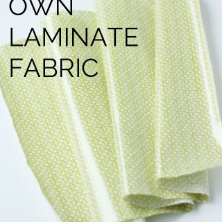 Michael Ann (for See Kate Sew) shares a great tutorial on how to make laminate fabric and tips on sewing with it. -Sewtorial