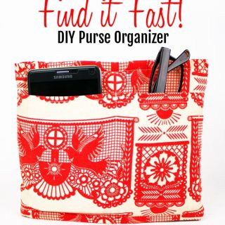 I Always Pick the Thimble shows how to make a DIY purse organizer. You'll never dig around the bottom of your purse to find those keys again! -Sewtorial