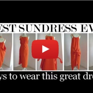 In this summer dress tutorial video by Stitchless Tv, you'll learn to create a summer dress that can be worn 7 different ways! -Sewtorial