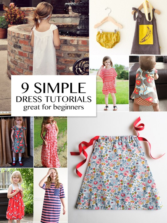 9 Simple Girls' Dress Tutorials