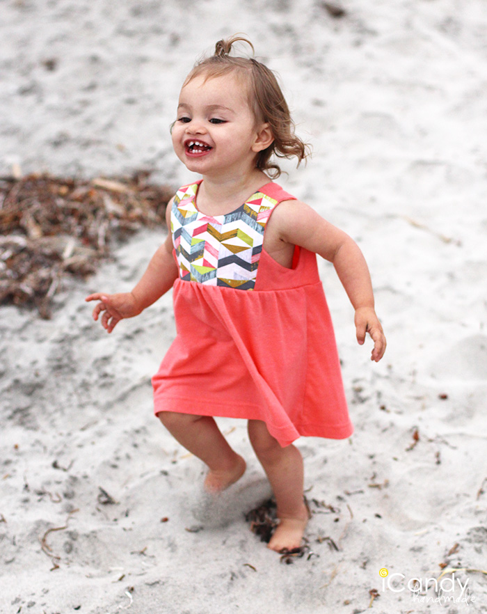 Simple summer dress pattern toddler bib