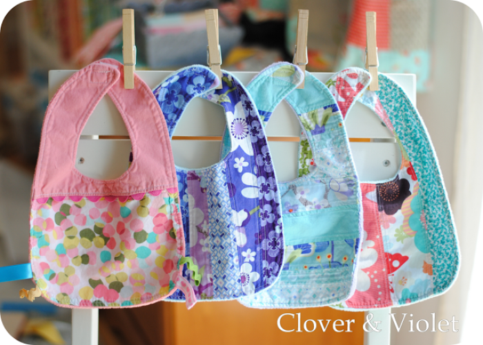 Here's a great baby bib tutorial by Clover & Violet. If you're looking for an absorbent bib for your little drooler, this is the one! -Sewtorial