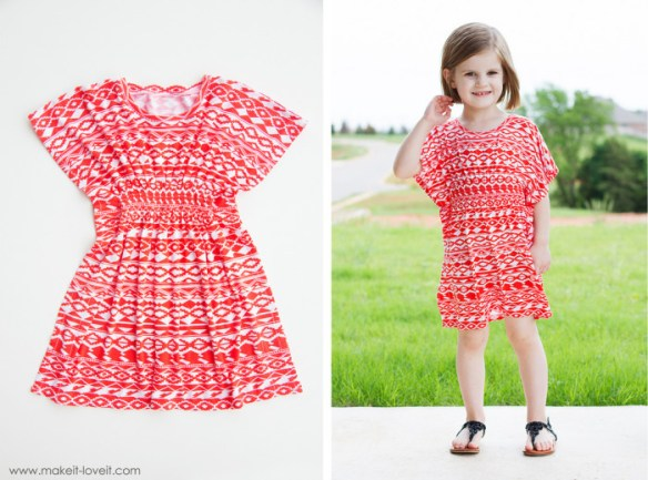 "The Butterfly Sleeve Tunic for girls (and women) by Make It Love It is an ""easy sew"" that only takes about 45 minutes. Yay! - Sewtorial"