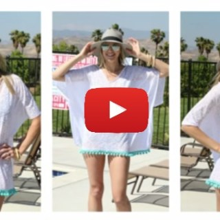 Looking for something simple to throw over your swimwear? Melanie Ham shares an easy DIY Swimsuit cover up in this quick video tutorial. -Sewtorial