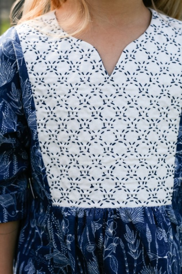 """Take any basic pattern from blah to """"WOW!"""" with this Sashiko embroidery tutorial by Radiant Home Studio (for Oliver + S). -Sewtorial"""