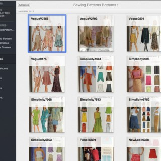 create a digital sewing pattern catalog