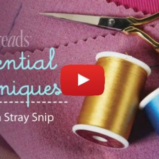 "Have you ever accidentally snipped your fabric where you weren't supposed to cut? It happens, but how do you fix it? The following Threads video shows a great fix to all those ""scissor happy"" moments. -Sewtorial"