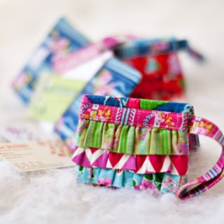 Ruffled Mini Wallet