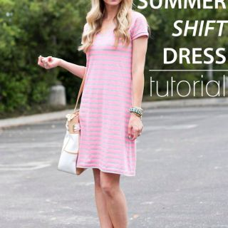 Elle Apparel shares a tutorial for s summer shift dress in this tutorial. It's beginner friendly design makes it a quick sew. -Sewtorial