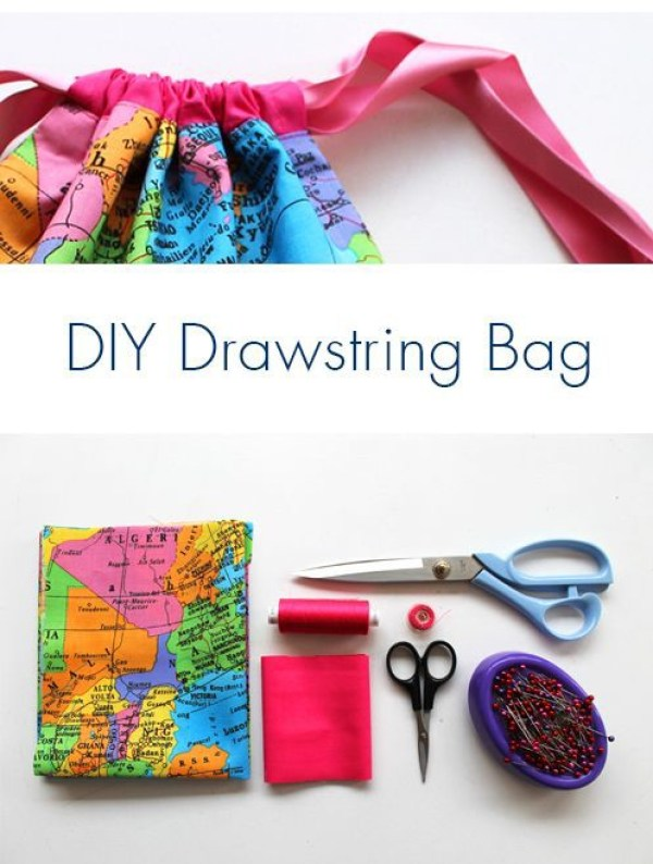 Here's a super simple DIY Drawstring Bag that's ultra cute by Sew Over It. It's a super quick to sew and perfect for beginners. -Sewtorial