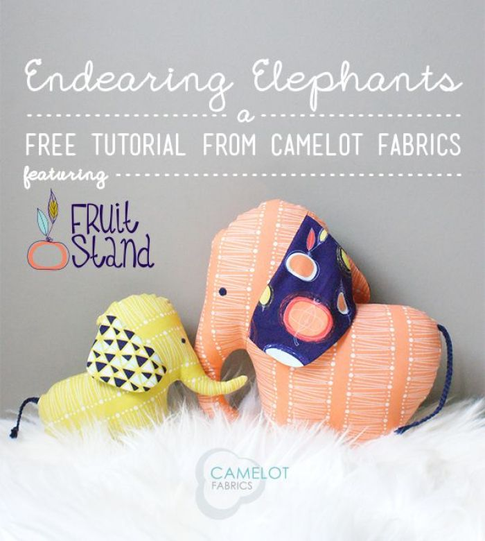 This adorable mama and baby elephant stuffie tutorial was created by Camelot Fabrics. Create a family of elephants in your favorite fabrics. -Sewtorial