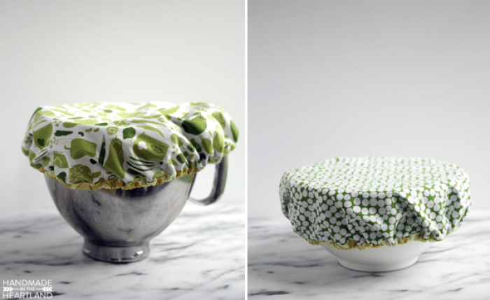 When you have to step away from the mixing bowl, you can keep your ingredients safe with this easy DIY Mixing Bowl Cover by Handmade in the Heartland. -Sewtorial