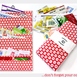 Here's a handy idea for storing your coupons. Sew4Home shows you how in this coupon wallet DIY. -Sewtorial