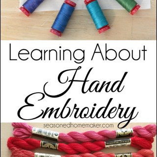 If you're interested in the Slow Sewing movement, this hand embroidery tutorial by the Seasoned Homemaker will help get you started. -Sewtorial