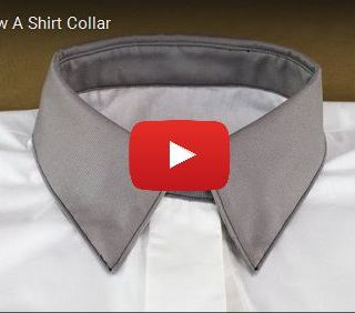 Take the plunge and create beautiful shirt collars using this step-by-step video by Professor Pincushion. -Sewtorial