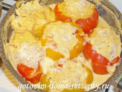 рецепт фаршированный мясом и рисом перец
