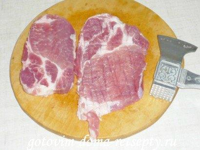 отбивные из свинины на решетке