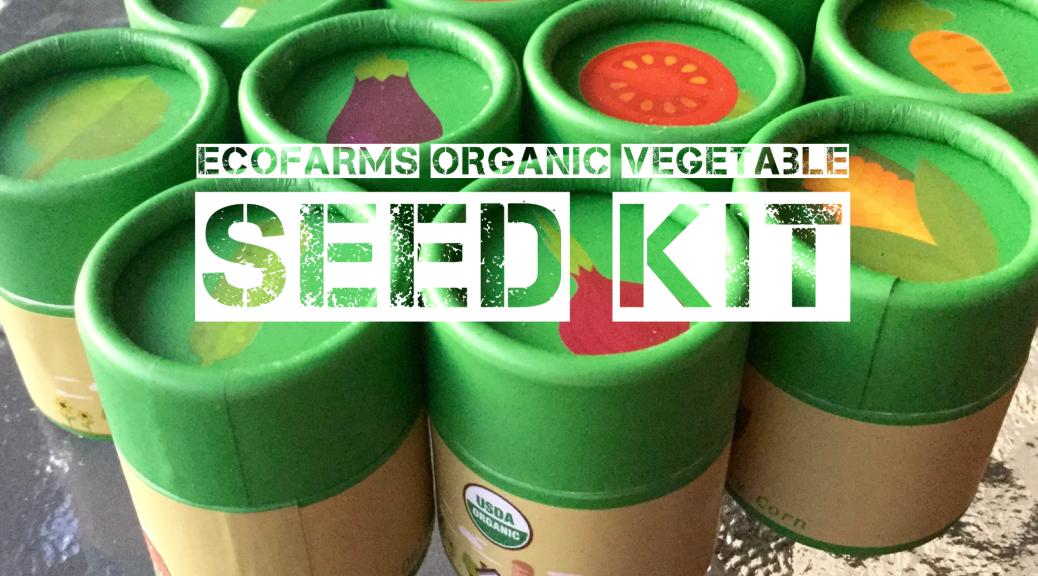 ecofarms organic vegetable seed kit