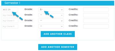 College GPA Calculator
