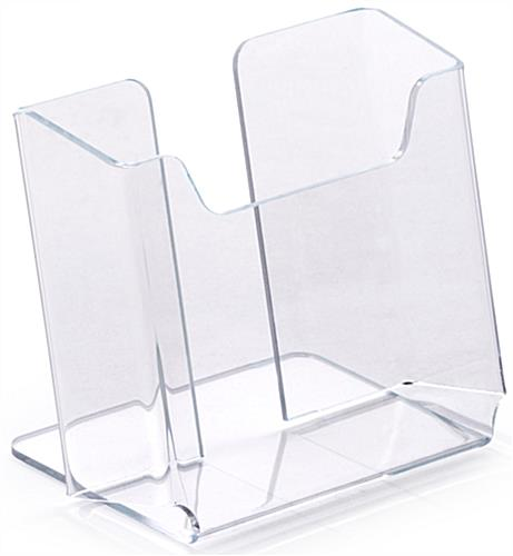 Acrylic Brochure Holders   Clear Tabletop Leaflet Pockets 3 75 w Tabletop Brochure Holders