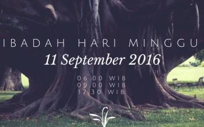 Ibadah Minggu 11 Sep