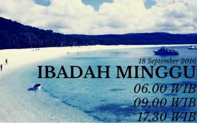 Ibadah Minggu 18 Sep