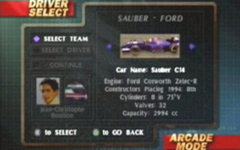 C'mon, you know you've always wanted to play as Jean-Christophe Boullion in an F1 game.